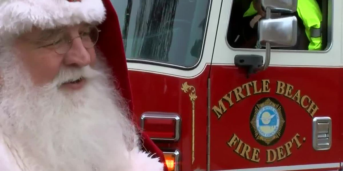 Myrtle Beach firefighters help Santa spread holiday cheer along Grand Strand