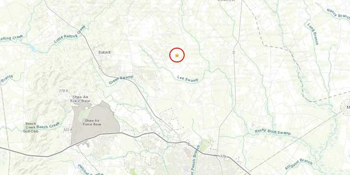 Small earthquake recorded in Midlands of SC
