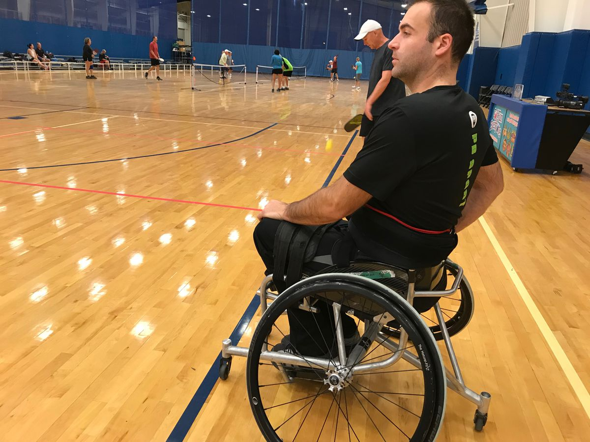 Canadian pickleballer visits Myrtle Beach to promote wheelchair competitions