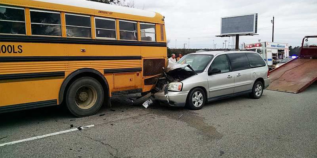 Students injured in school bus accident near Coward