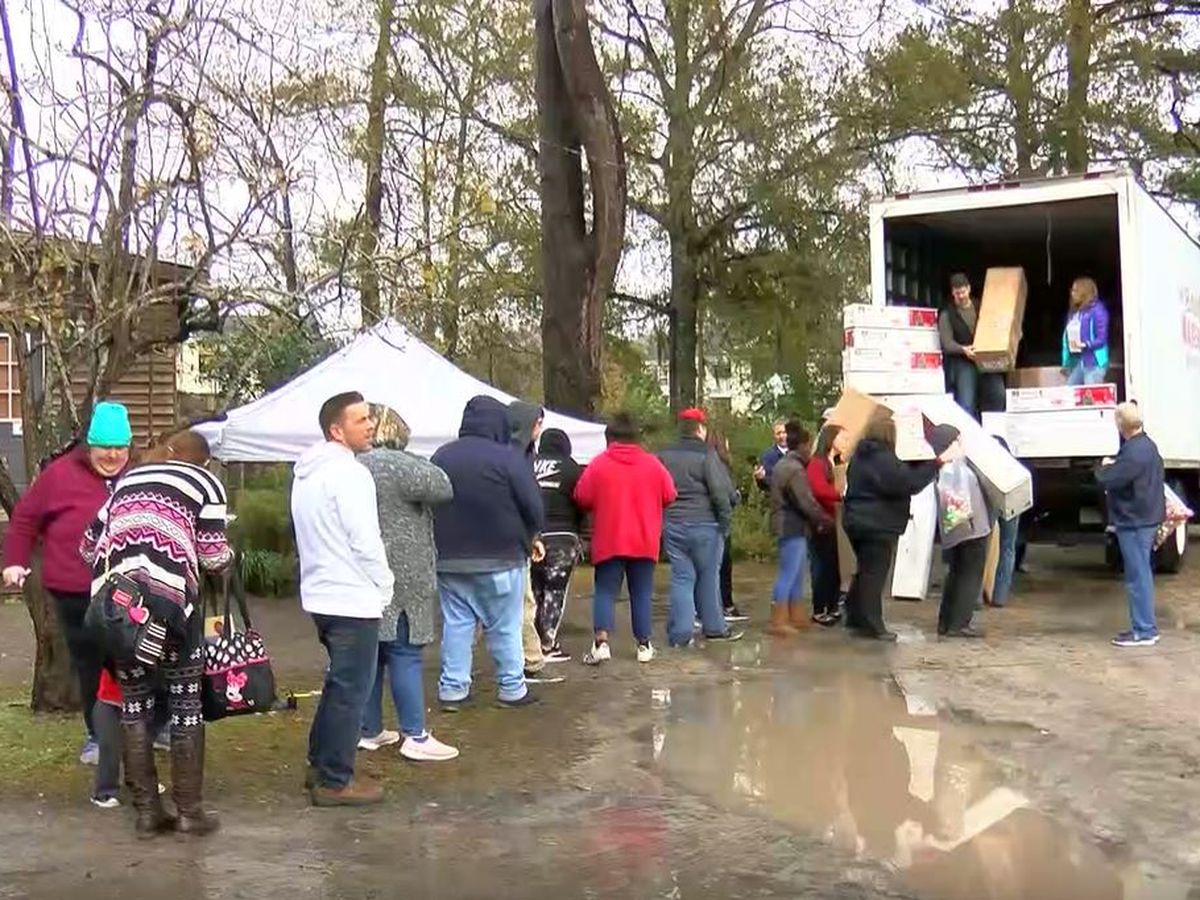 Nearly 100 Christmas trees donated to flood victims