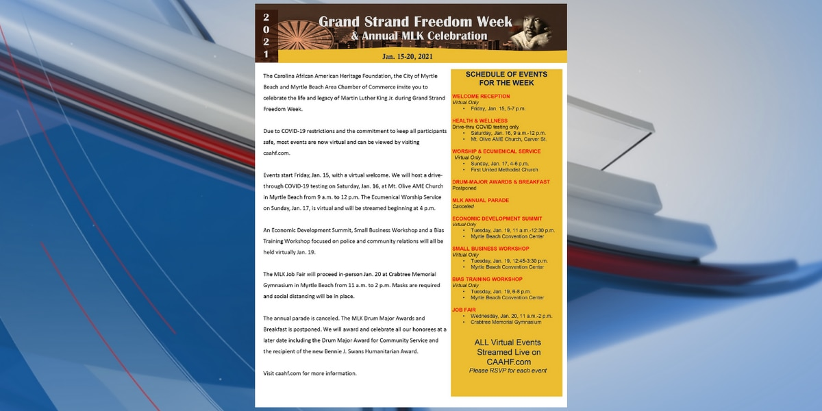 Organization, City of Myrtle Beach holding events to celebrate Grand Strand Freedom Week