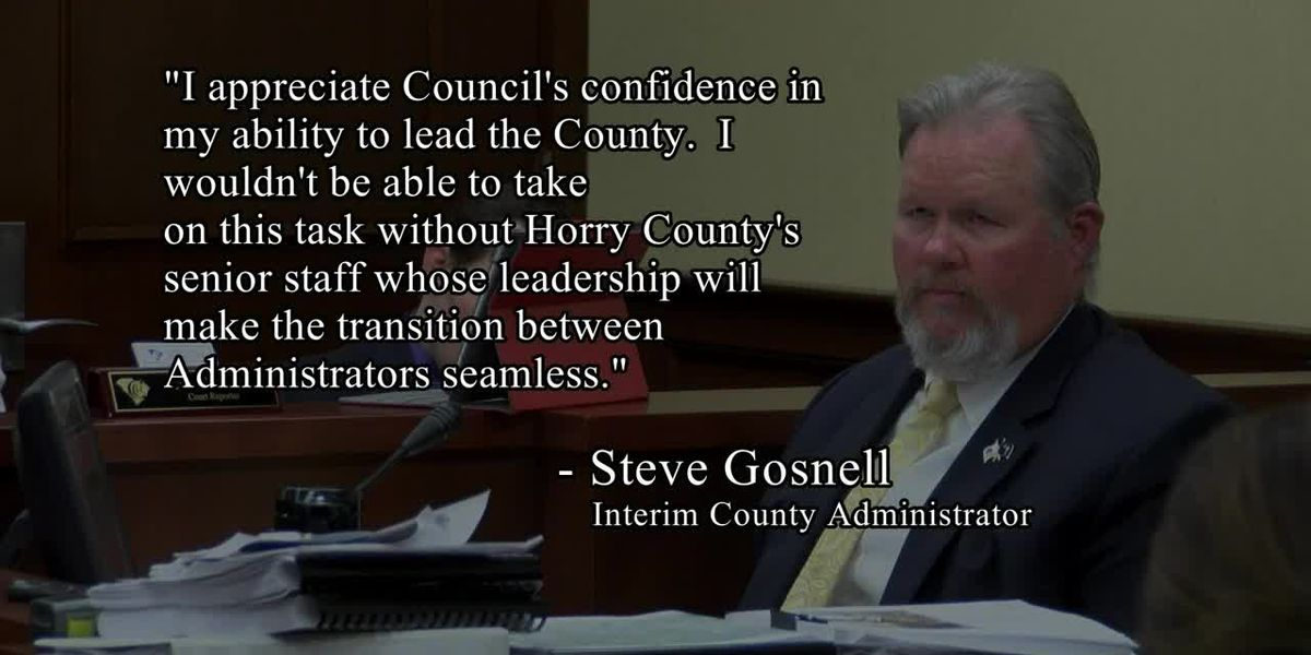 Horry County leaders name interim county administrator