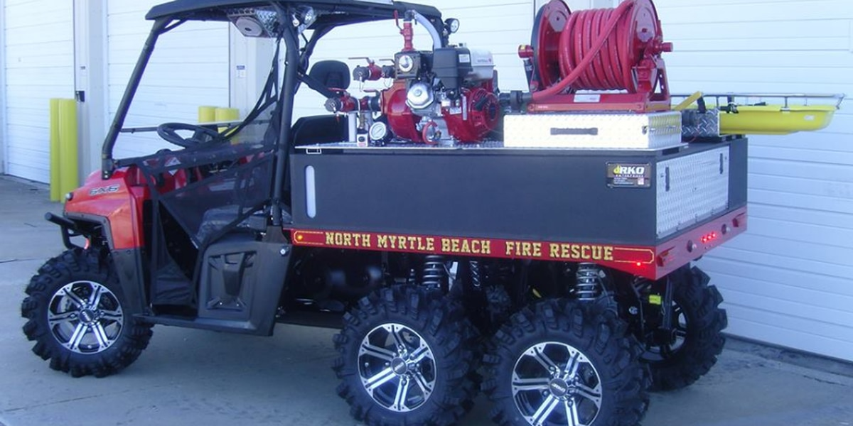 North Myrtle Beach Fire Rescue gets new six-wheeler outfitted with firefighting gear