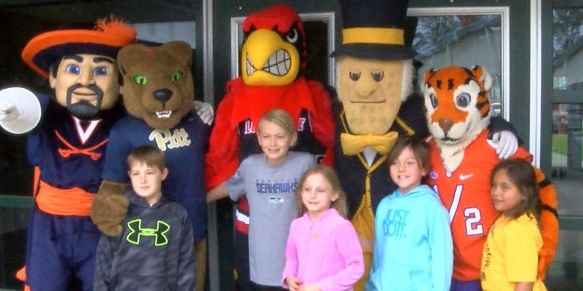 ACC mascots visit Carolina Forest Elementary School