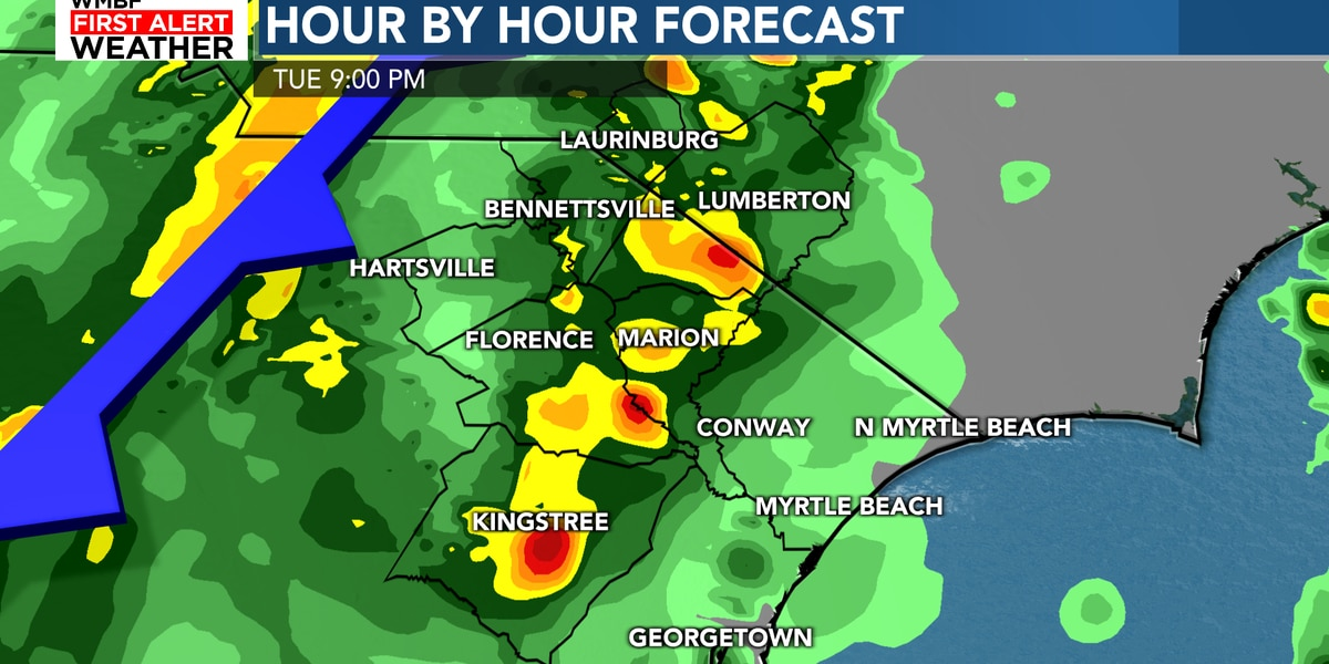 FIRST ALERT: A few strong storms Tuesday evening