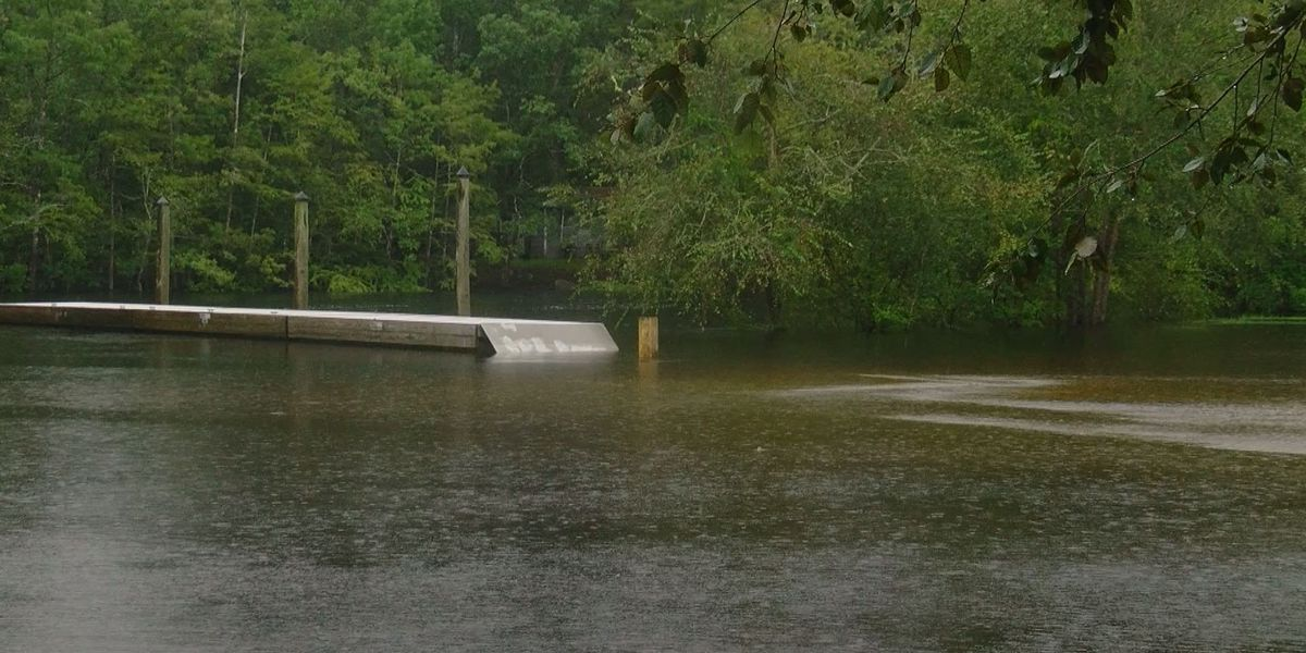 Reaves Ferry Landing in Conway floods after tropical system