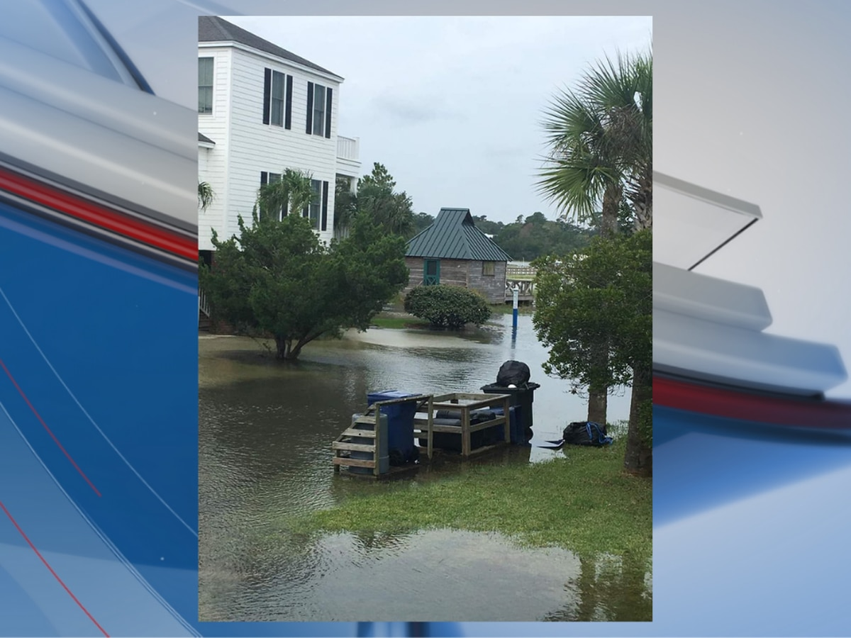 High tides flooding streets in Pawleys Island, drivers asked to avoid area