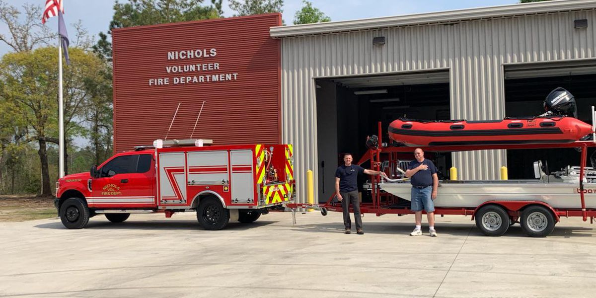 Town of Nichols receives their own rescue boats