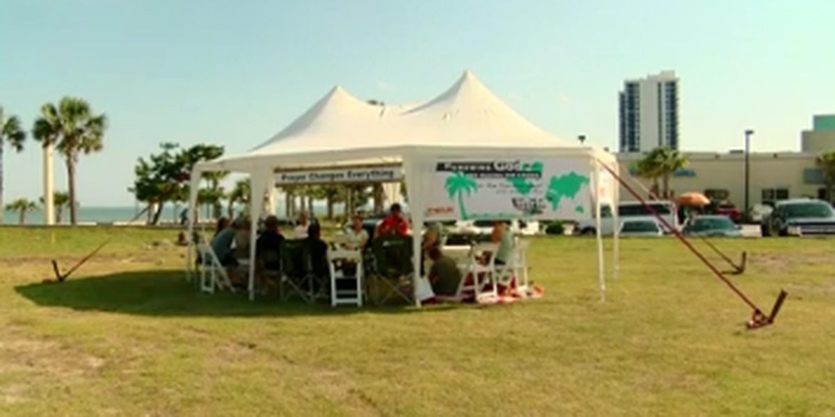 Need a prayer? Head to the prayer tent set up in Myrtle Beach for Memorial Day weekend