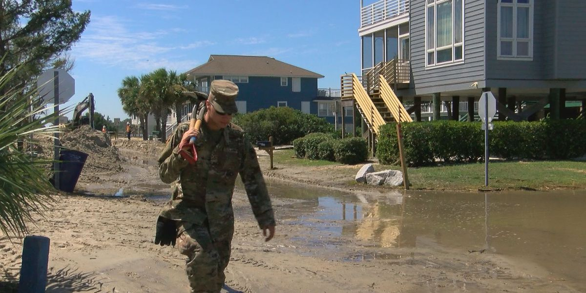 Pawleys Island begins clean up after damages from Hurricane Dorian