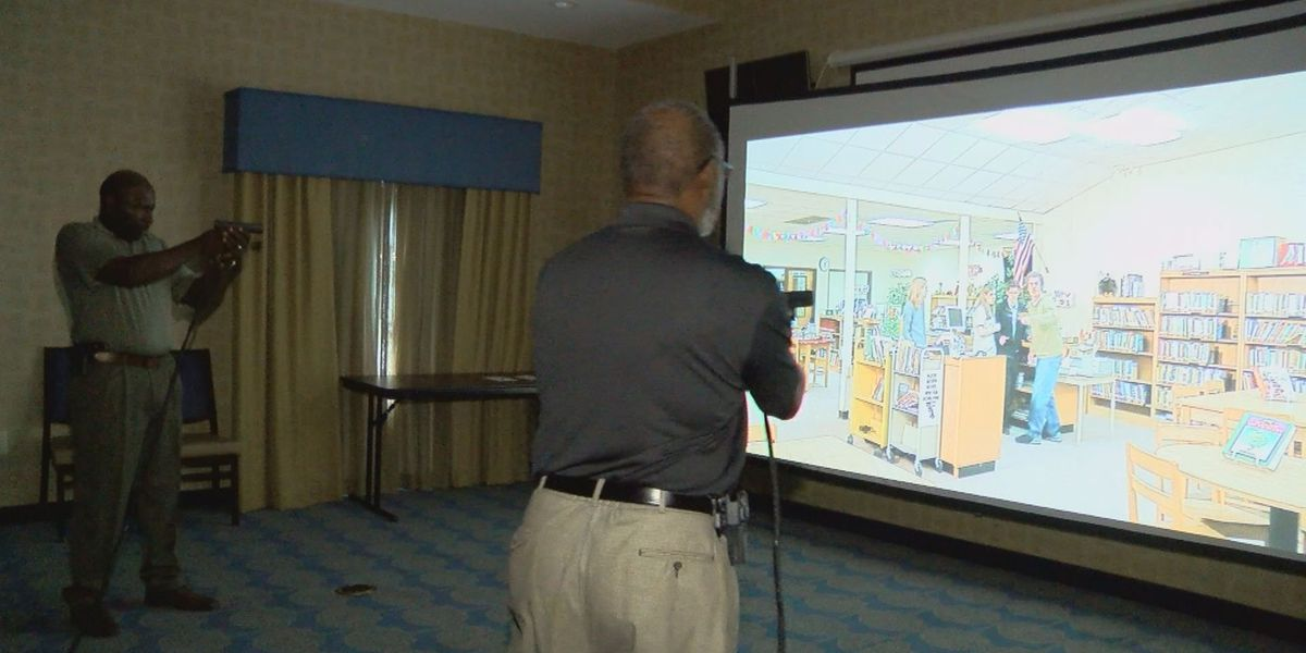 Hartsville police demonstrates firearms simulator