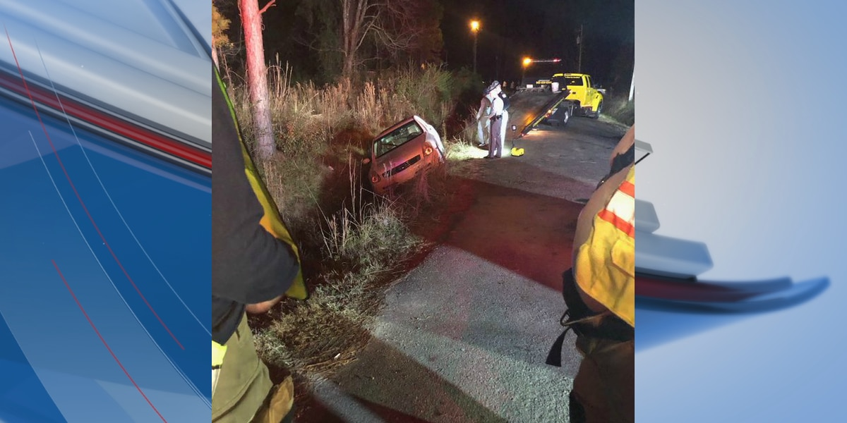 Car door removed to rescue two after single-vehicle crash on S.C. 707