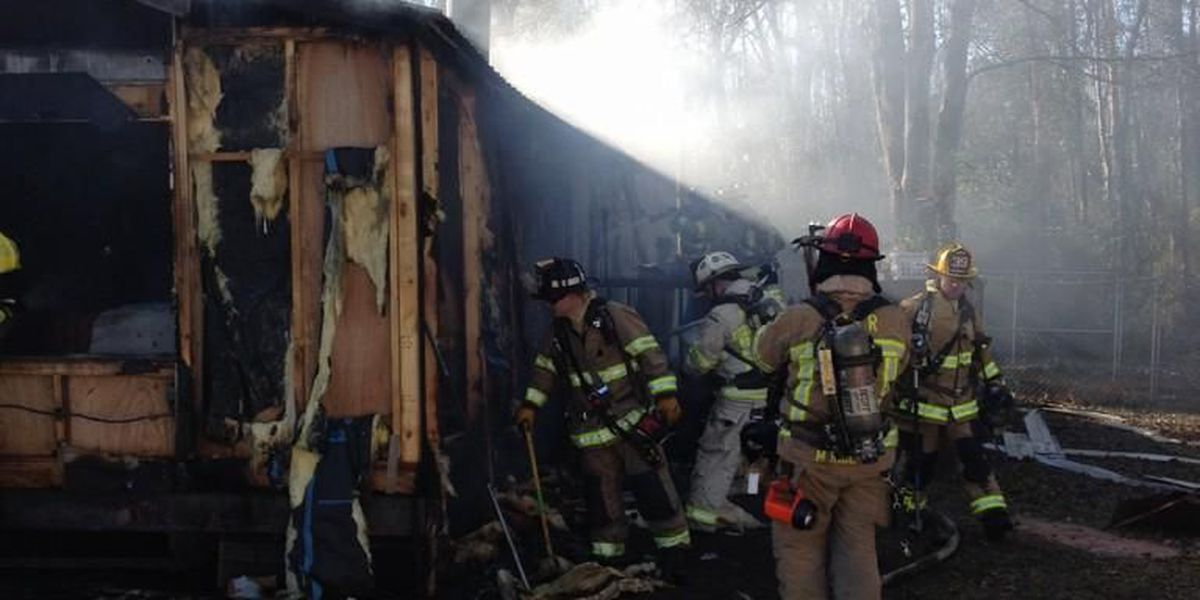 Two people displaced after fire burns home in Conway