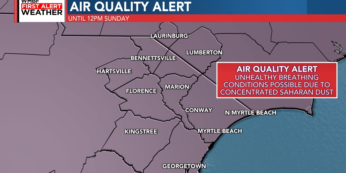 FIRST ALERT: Air Quality Alert issued for the Grand Strand and Pee Dee