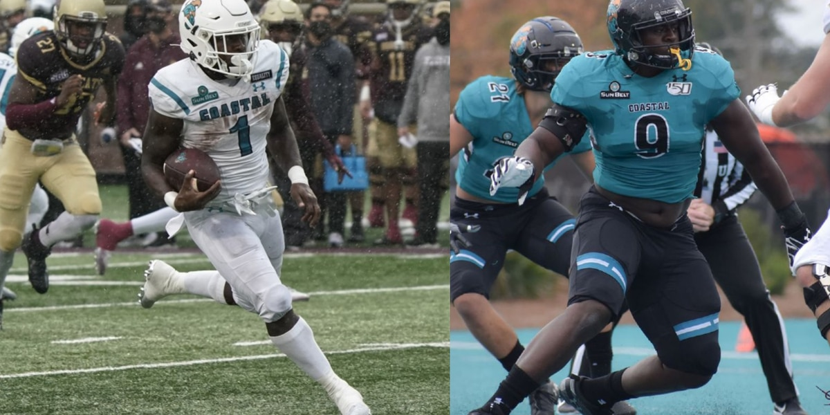 Coastal Carolina's Marable, Jackson declare for NFL Draft
