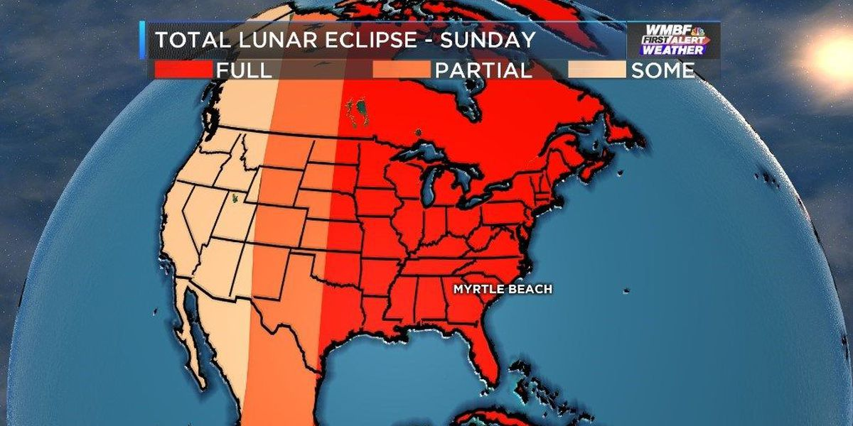 An extremely rare 'super moon' - full lunar eclipse combo to be seen in Myrtle Beach