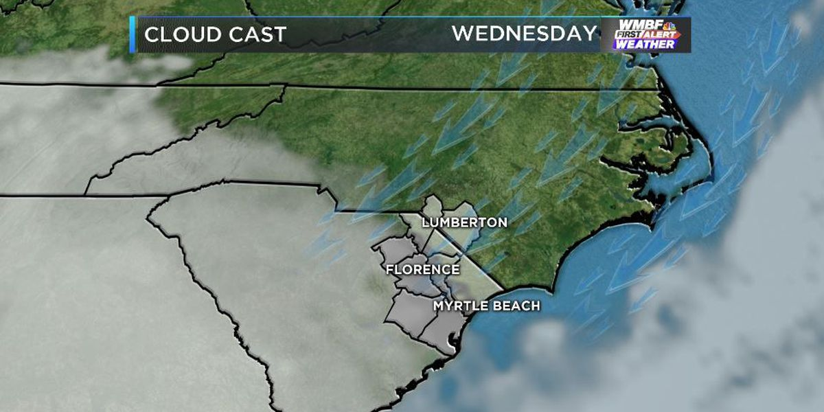 FIRST ALERT FORECAST: A stubborn weather pattern keeps clouds around through the week