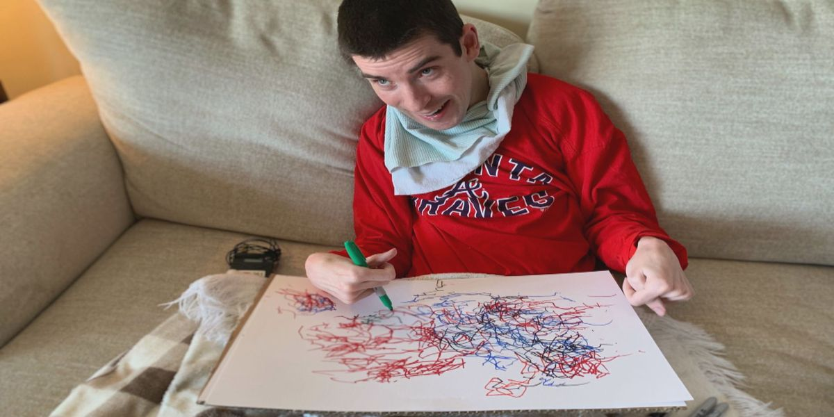 Horry County man with cerebral palsy creates abstract art, donates proceeds