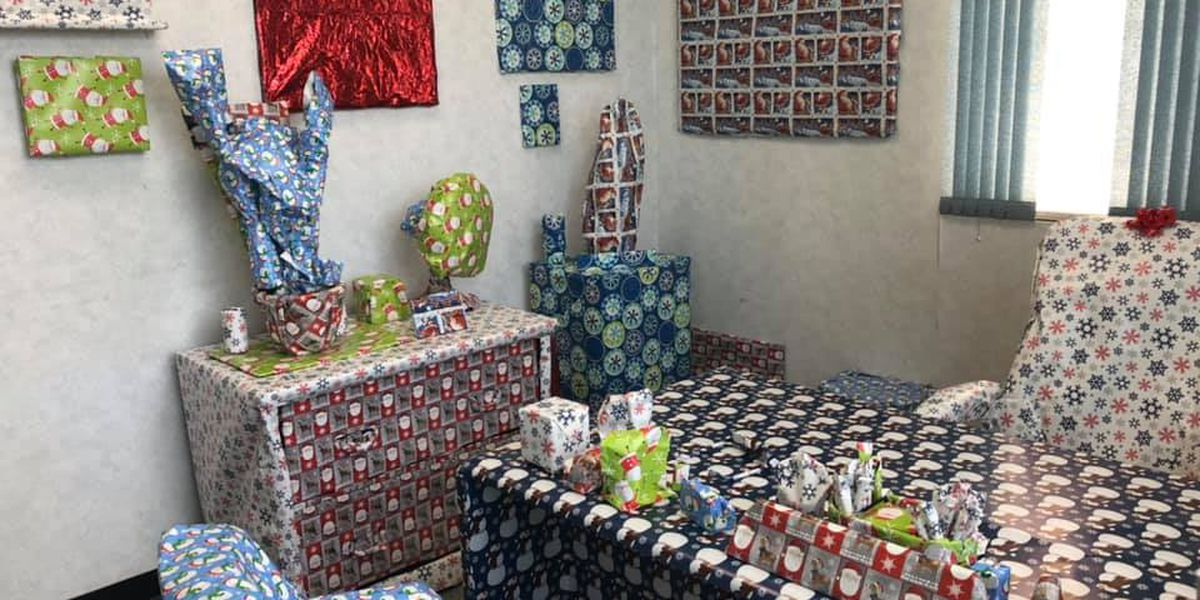 THAT'S A WRAP: Prankster covers RCSD office with holiday wrapping paper