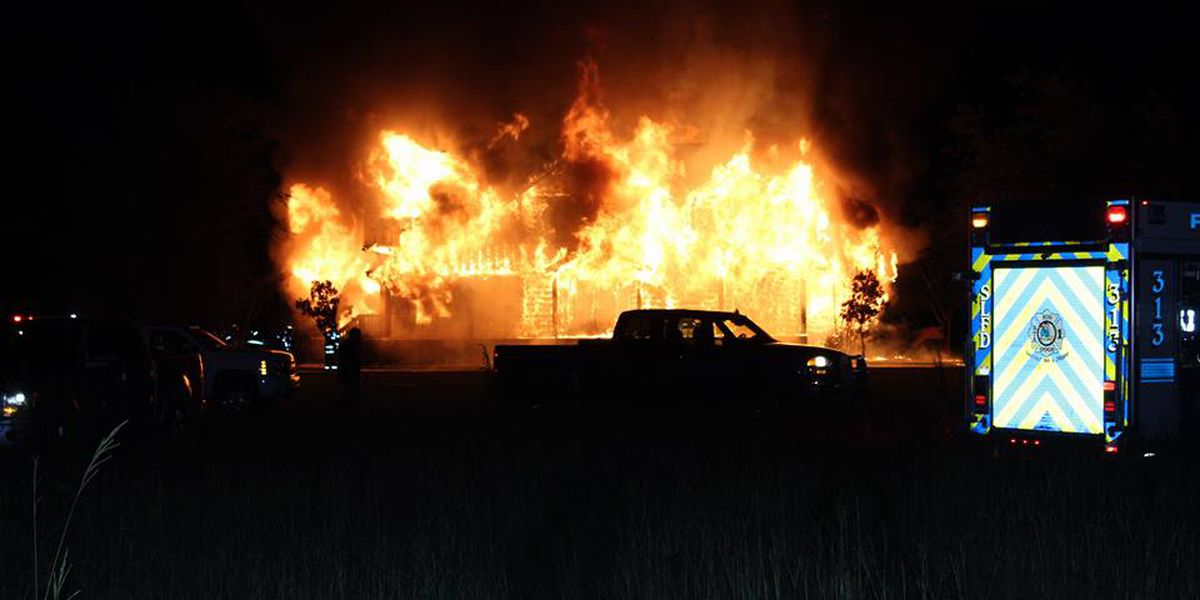 Family thankful to be safe following massive Florence County house fire