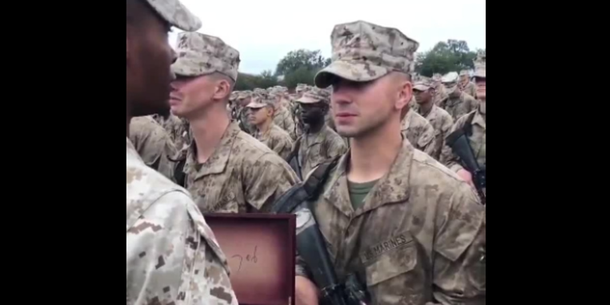 Leukemia survivor achieves dream, becomes United States Marine