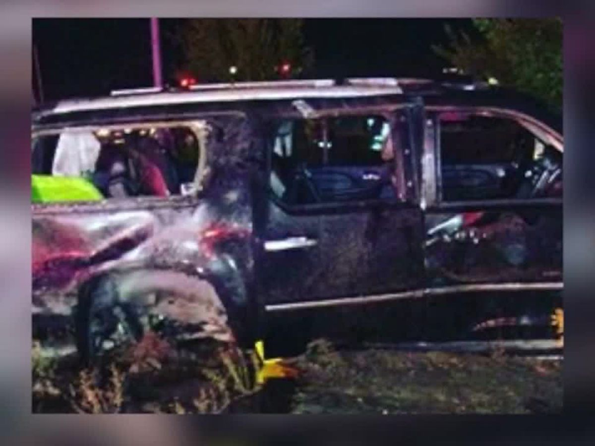 An infant was ejected from a SUV rollover crash. He was found safe in his car seat.