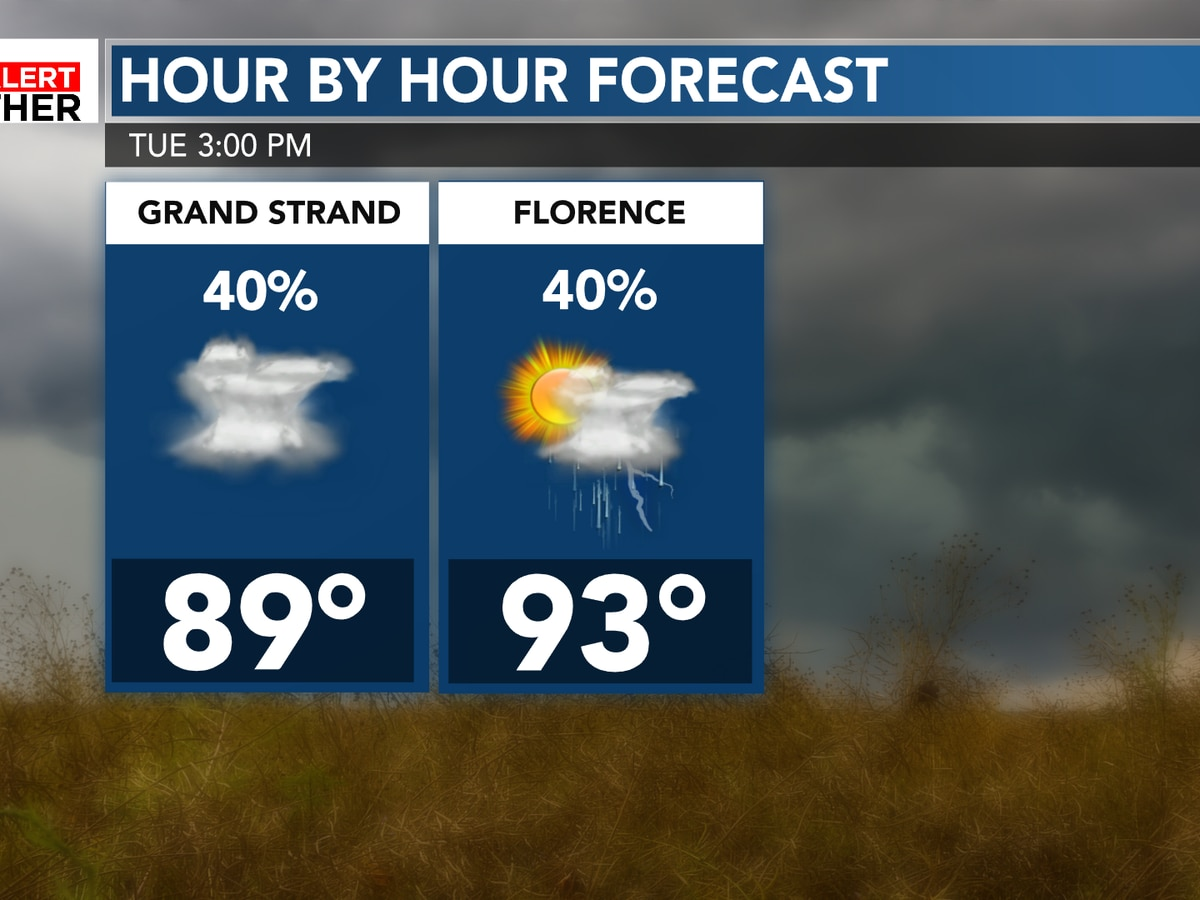 FIRST ALERT: Afternoon storms to bring heavy downpours, gusty winds
