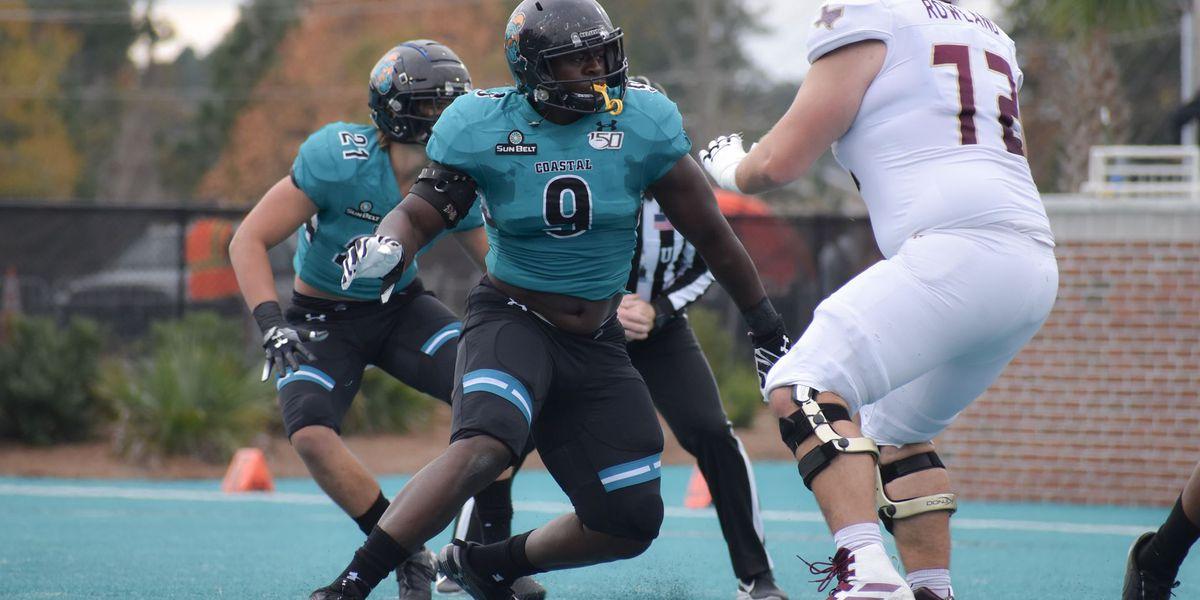 Coastal Carolina's Jackson Picks Up SBC Defensive Player of the Week Honors