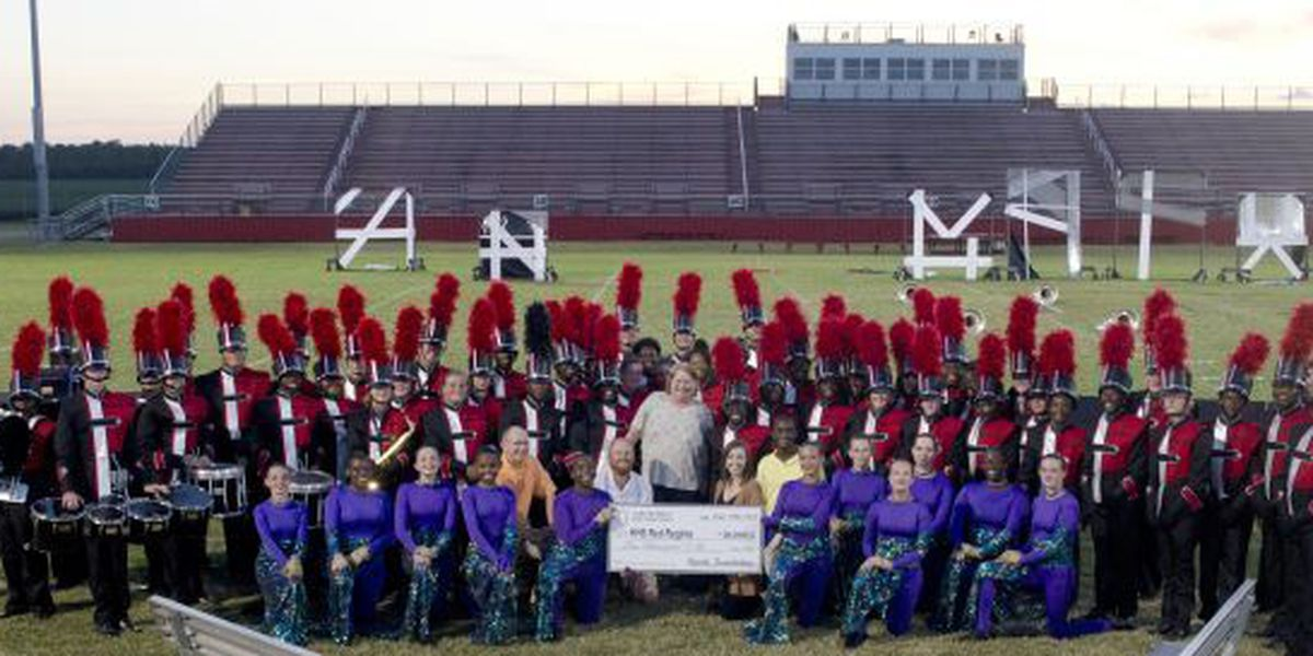 Byerly Foundation presents $10,000 to Hartsville High's marching band for new uniforms