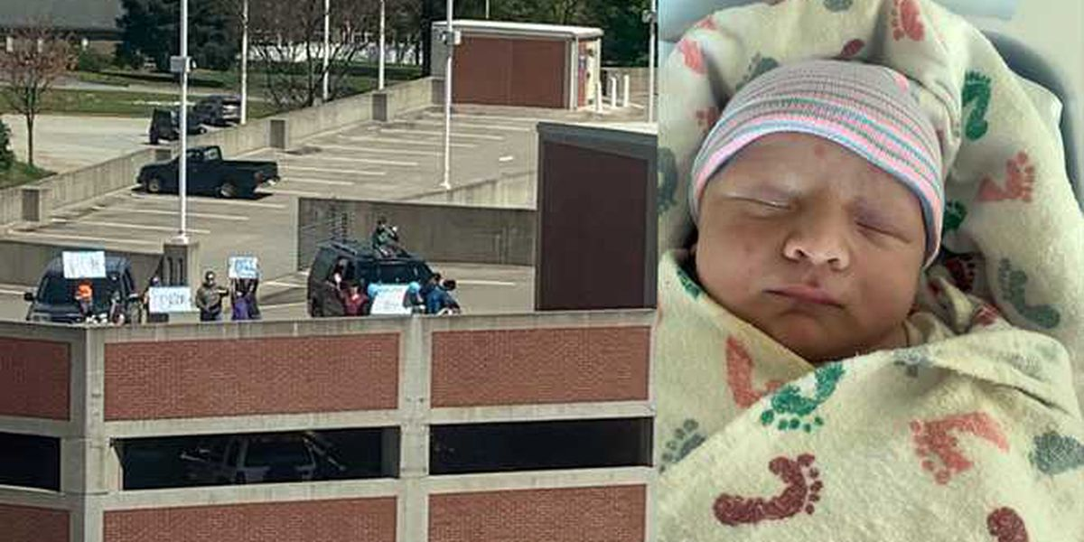 Baby born in S.C. during coronavirus outbreak gets parking garage welcome from friends