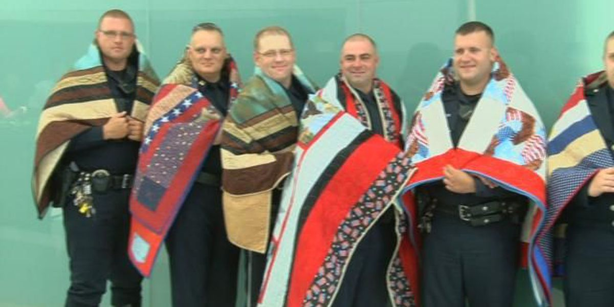 North Myrtle Beach police officers honored with Quilt of Valor
