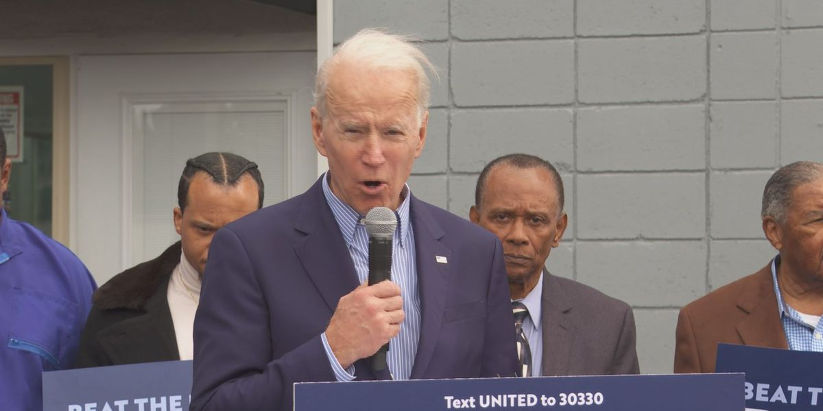 Joe Biden visits Toliver's Barbershop ahead of S.C. primary