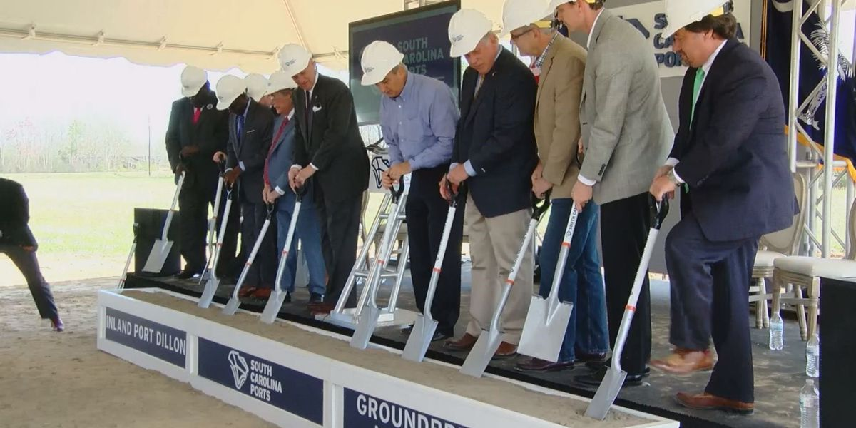 Ground officially broken on upcoming Dillon port