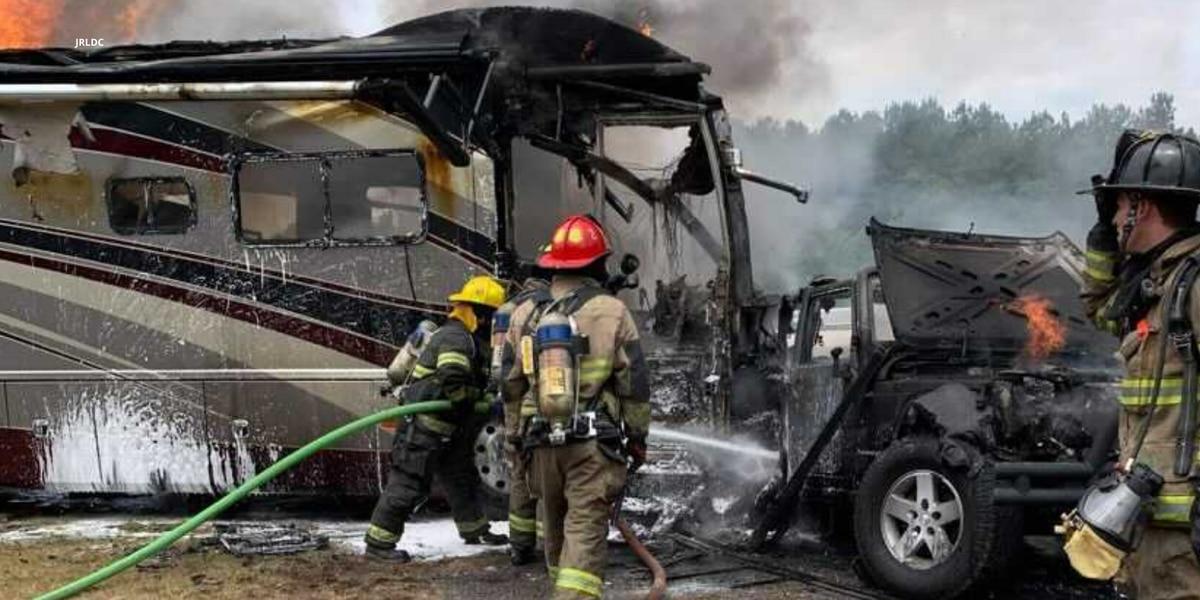 No one injured in fiery Marlboro County wreck