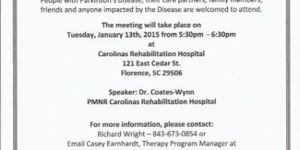 Parkinson's support group holds January meeting
