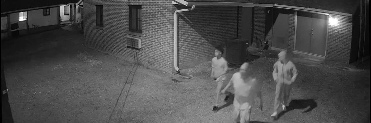 RAW: Surveillance footage shows men wanted for questioning in Florence armed robbery