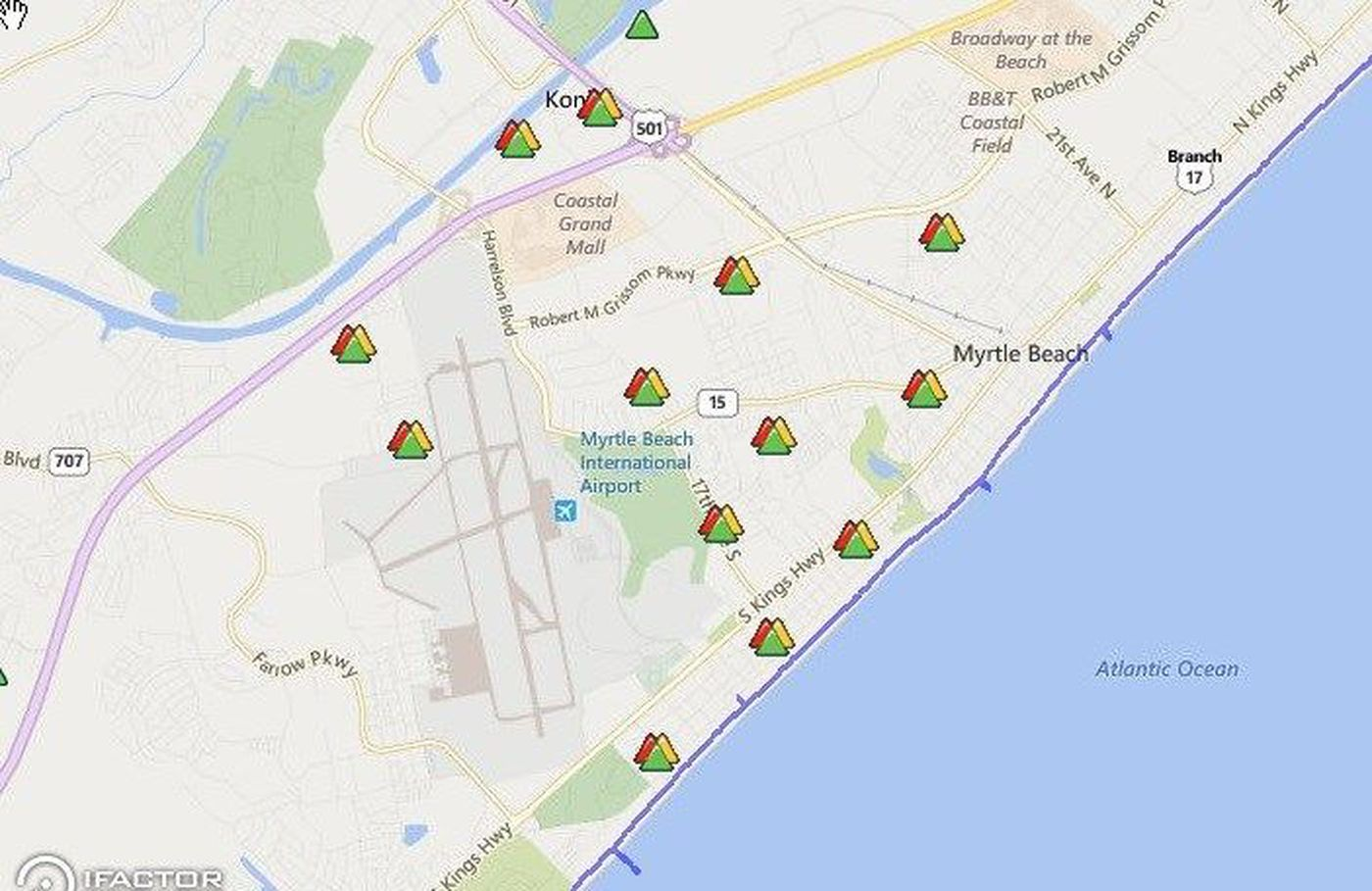 Santee Cooper: power has been restored to Myrtle Beach areas