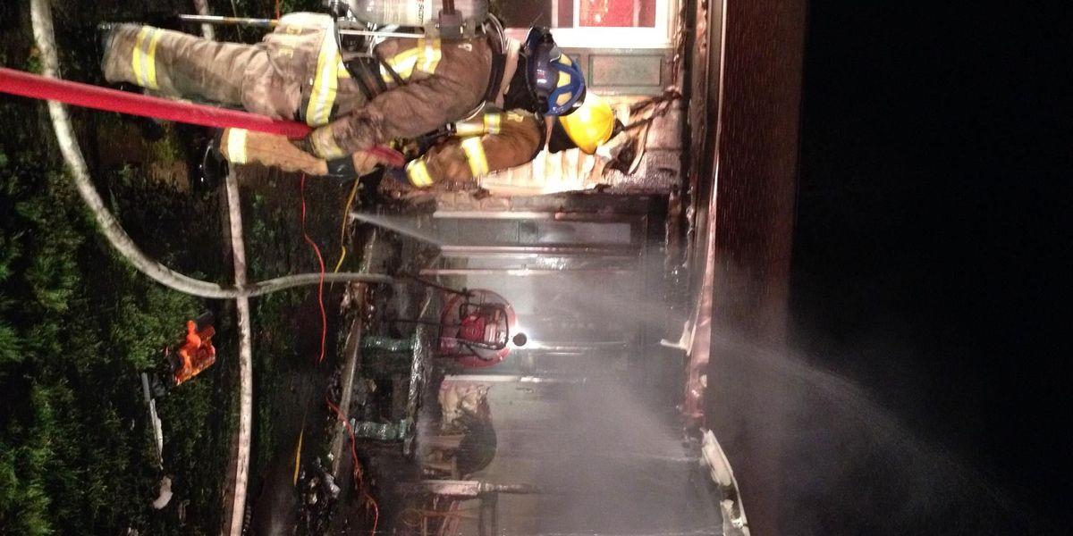 Overnight fire destroys home on Plantation Drive