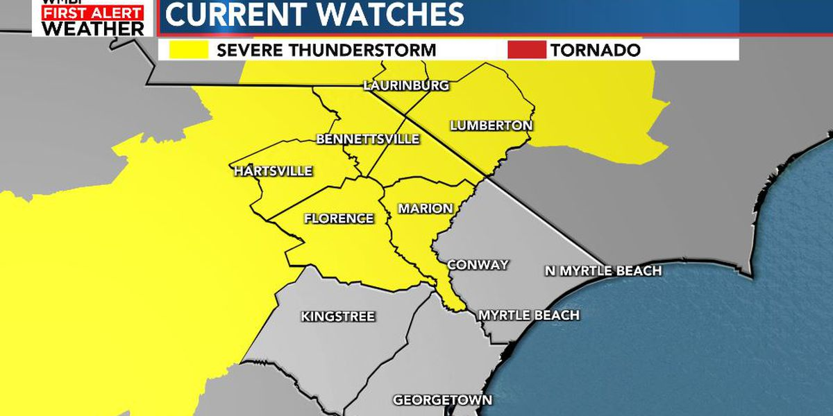 FIRST ALERT: Severe Thunderstorm WATCH in effect for many areas