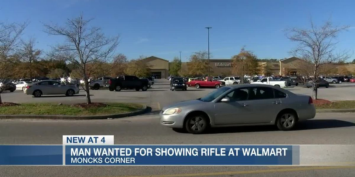 VIDEO: Wanted: Man takes out rifle, threatens people at Moncks Corner Walmart parking lot