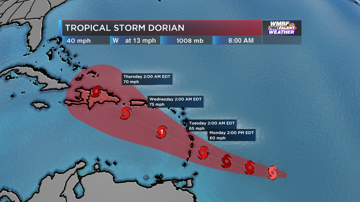 First Alert: Erin still likely to form, Dorian expected to become a hurricane this week