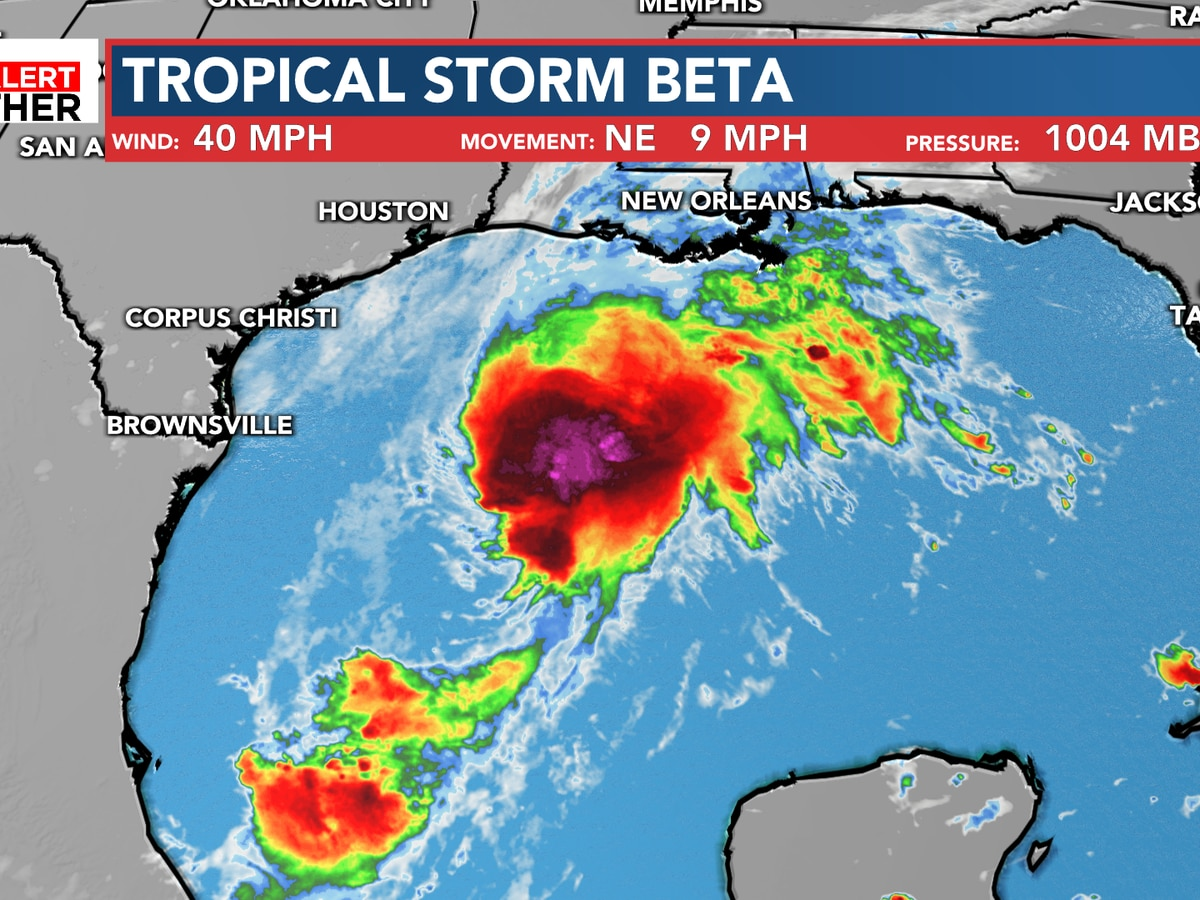 FIRST ALERT: Tropical Storm Beta forms in the Gulf of Mexico