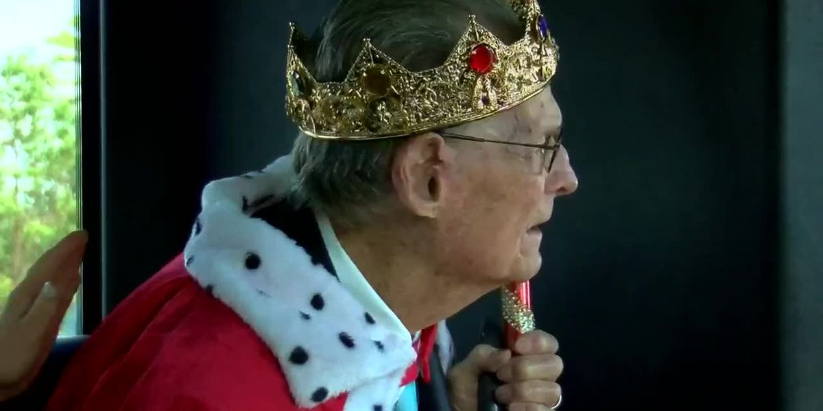 'This means the world to me': Grand Strand veteran gets 'royal' treatment for 97th birthday