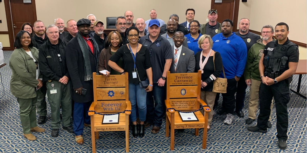 Honor Chairs memorialize fallen Florence law enforcement officers