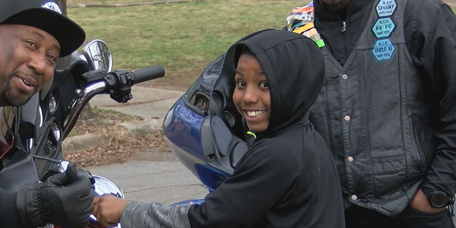 Motorcycle club makes holidays brighter for Cupcake McKinney's brother