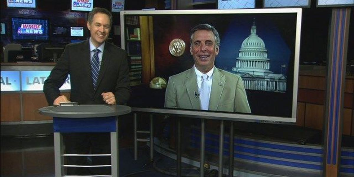 Tom Rice speaks to WMBF News about several local, national issues