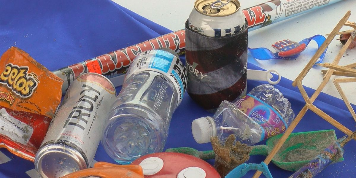Volunteers pick up pounds of trash during Grand Strand beach cleanup