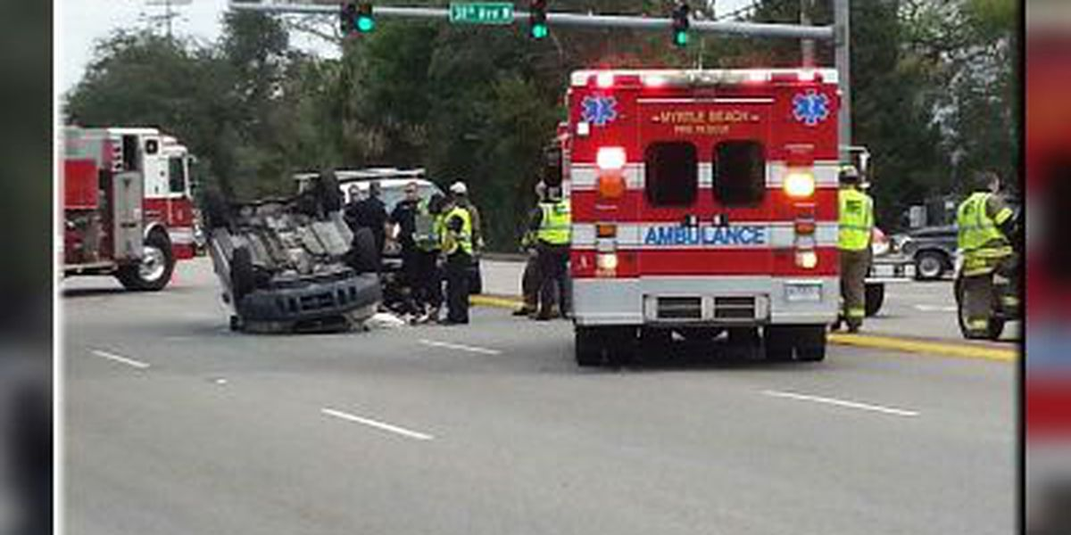 Crash closes southbound lanes of Highway 17 in Myrtle Beach