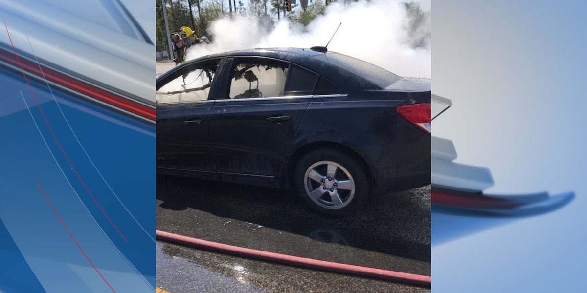 Firefighters called to car fire on Carolina Forest Blvd